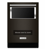 "KDTM804EBS KitchenAid 44 dBA 24"" Dishwasher with ProWash and ProScrub - Black Stainless Steel"
