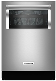 "KDTM804ESS KitchenAid 44 dBA 24"" Dishwasher with Window and Lighted Interior - Stainless Steel"