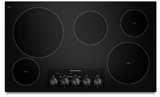 "KECC664BBL KitchenAid Architect 36"" Electric Cooktop - Black"