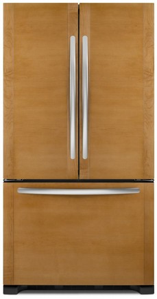 "KFCO22EVBL KitchenAid 36"" French Door Counter Depth Refrigerator - Custom Panel"
