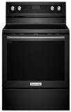 "KFEG500EBL KitchenAid 6.4 Cu. Ft. 30"" Electric 5 Element Convection Range - Black"