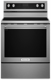 "KFEG500ESS KitchenAid 6.4 Cu. Ft. 30"" Electric 5 Element Convection Range - Stainless Steel"