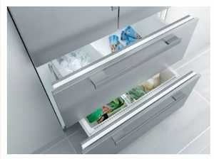 """KFNF9955IDE 36"""" Miele PerfectCool Series Built-In French Door Refrigerator with Gallon Door Storage and Spillproof Glass Technology - Custom Panel"""