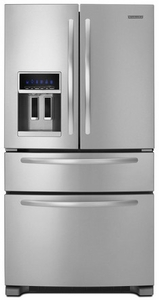 KFXS25RYMS KitchenAid  25' French Door Refrigerator - Monochromatic Stainless