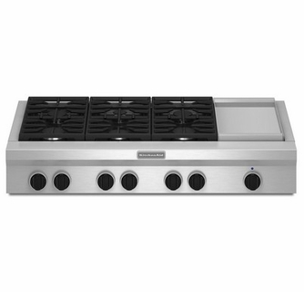 Commercial Gas Cooktop With Griddle