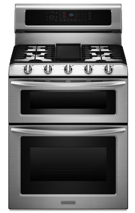 Reviews for kgrs505xss kitchenaid architect double oven convection gas range stainless steel - Gas stove double oven reviews ...