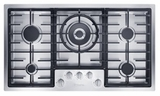 "KM2355G Miele 36"" Flush-Mounted Gas Cooktop - Natural Gas - Stainless Steel"