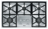 "KM3474G Miele 3000 Series 36"" Natural Gas Cooktop with Hexa Grates - Stainless Steel"