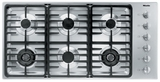 "KM3485G Miele 3000 Series 42"" Natural Gas Cooktop with Linear Grates - Stainless Steel"