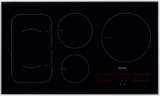 "KM6370 Miele 36"" Touch Control Glass Induction Cooktop 208/240v Compatible - Black"