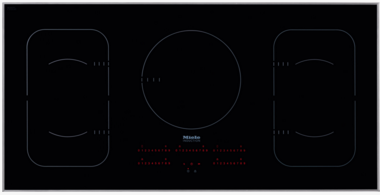 """KM6377 Miele 42"""" Touch Control Glass Induction Cooktop with 208/240v Compatible - Black"""