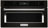 "KMBP100EBS KitchenAid 30"" Built In Microwave Oven with Convection Cooking - Black Stainless Steel"