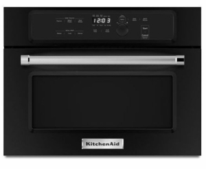 "KMBS104EBL KitchenAid 24"" Built In Microwave Oven with 1000 Watt Cooking - Black"