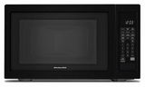 "KMCS1016GBL KitchenAid 22"" 1.6 Cu Ft Countertop Microwave Oven with Timed Defrost and 9 Quick-Touch Cycles - Black"