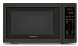 "KMCS1016GBS KitchenAid 22"" 1.6 Cu Ft Countertop Microwave Oven with Timed Defrost and 9 Quick-Touch Cycles - Black Stainless Steel"