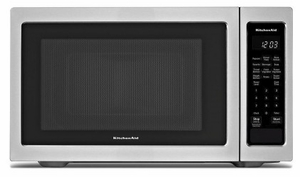 "KMCS1016GSS KitchenAid 22"" 1.6 Cu Ft Countertop Microwave Oven with Timed Defrost and 9 Quick-Touch Cycles - Stainless Steel"