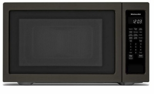 """KMCS3022GBS KitchenAid 24"""" 2.2 Cu Ft Countertop Microwave Oven with Timed Defrost and 9 Quick-Touch Cycles - Print Shield Black Stainless Steel"""