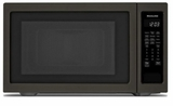 "KMCS3022GBS KitchenAid 24"" 2.2 Cu Ft Countertop Microwave Oven with Timed Defrost and 9 Quick-Touch Cycles - Print Shield Black Stainless Steel"