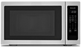 "KMCS3022GSS KitchenAid 24"" 2.2 Cu Ft Countertop Microwave Oven with Timed Defrost and 9 Quick-Touch Cycles - Print Shield Stainless Steel"