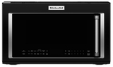 "KMHC319EBL KitchenAid 1.9 Cu. Ft. 1000w Convection Over the Range 30"" Microwave - Black"