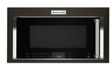 "KMHC319EBS KitchenAid 1.9 Cu. Ft. 1000w Convection Over the Range 30"" Microwave with High-Speed Cooking and Halogen Task Lights - Black Stainless Steel"