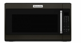 "KMHS120EBS KitchenAid 2.0 Cu. Ft. 1000w Over the Range 30"" Microwave with 7 Sensor Functions and Cookshiled Finish - Black Stainless Steel"