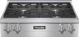 "KMR1124G Miele 30"" Rangetop with Stainless Steel with ComfortClean Dishwasher-Safe Grates Natural Gas- Stainless Steel"