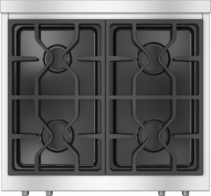 "KMR1124GLP Miele 30"" Rangetop with Stainless Steel with ComfortClean Dishwasher-Safe Grates - LP Gas - Stainless Steel"