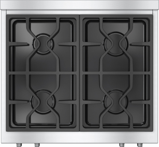 "KMR1124LP Miele 30"" Rangetop with Stainless Steel with ComfortClean Dishwasher-Safe Grates - LP Gas - Stainless Steel"