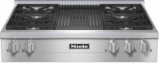 "KMR1135LP Miele 36"" LP Gas Rangetop with Grill & Backlit Precision Knobs - Stainless Steel"