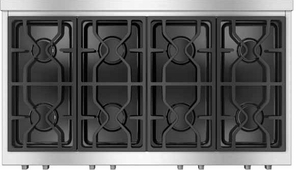 "KMR13541G Miele 48"" Natural Gas 8 Burner Rangetop ComfortClean Dishwasher-Safe Grates - Stainless Steel"