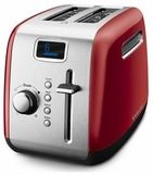 KMT222ER KitchenAid 2 Slice Digital Stainless Steel Toaster with LCD display Manual High-Lift Lever - Red