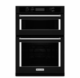 "KOCE500EBL KitchenAid 30"" Even-Heat True Convection Combination Wall Oven with Built In Microwave and SatinGlide Extension Rack - Black"