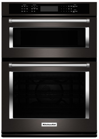 Koce500ebs Kitchenaid 30 Even Heat True Convection Combination Wall Oven With Built In Microwave And Satinglide