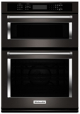 "KOCE500EBS KitchenAid 30"" Even-Heat True Convection Combination Wall Oven with Built In Microwave and SatinGlide Extension Rack - Black Stainless Steel"