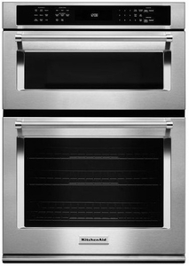 "KOCE500ESS KitchenAid 30"" Combination Wall Oven with Even-Heat True Convection (Lower Oven) - Stainless Steel"