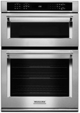 "KOCE500ESS KitchenAid 30"" Even-Heat True Convection Combination Wall Oven with Built In Microwave and SatinGlide Extension Rack - Stainless Steel"