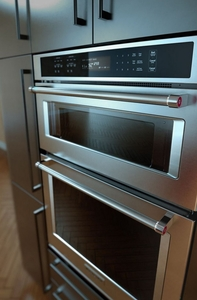 """KOCE500ESS KitchenAid 30"""" Even-Heat True Convection Combination Wall Oven with Built In Microwave and SatinGlide Extension Rack - Stainless Steel"""