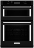 "KOCE507EBL KitchenAid 27"" Combination Wall Oven with Even-Heat True Convection (lower oven) - Black"