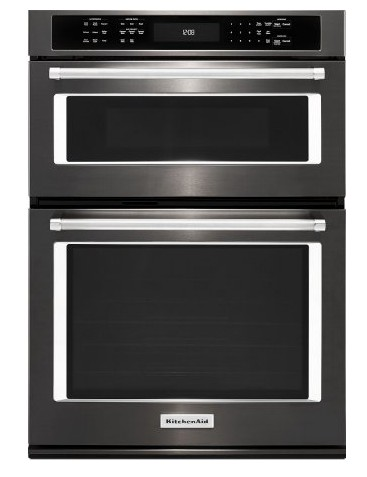 "KOCE507EBS KitchenAid 27"" Combination Wall Oven with Even-Heat True Convection (lower oven) - Black Stainless Steel"