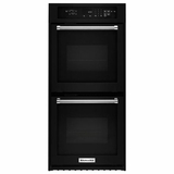"KODC304EBL KitchenAid 24"" Double Wall Oven with True Convection - Black"