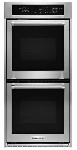 Kodc304ess Kitchenaid 24 U0026quot  Double Wall Oven With True Convection