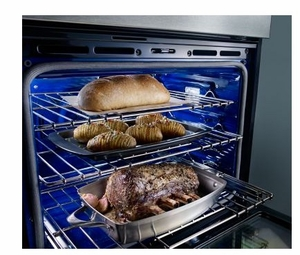 """KODE300ESS KitchenAid 30"""" Double Wall Oven with Even-Heat Upper True Convection and Glass Touch Display - Stainless Steel"""