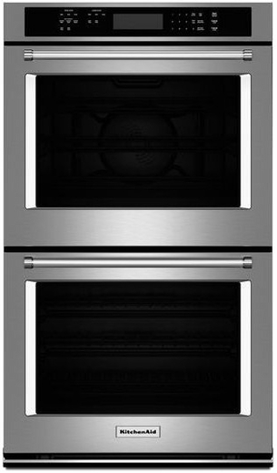 "KODE307ESS KitchenAid 27"" Double Wall Oven with Even-Heat True Convection (Upper Oven) - Stainless Steel"