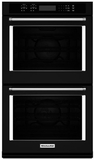 "KODE500EBL KitchenAid 30"" Double Wall Oven with Even-Heat True Convection - Black"