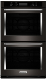 "KODE500EBS KitchenAid 30"" Double Wall Oven with Even-Heat and True Convection - Black Stainless Steel"