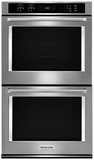 "KODE500ESS KitchenAid 30"" Double Wall Oven with Even-Heat True Convection - Stainless Steel"
