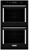 "KODE507EBL KitchenAid 27"" Double Wall Oven with Even-Heat True Convection - Black"