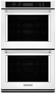 "KODE507EWH KitchenAid 27"" Double Wall Oven with Even-Heat True Convection - White"