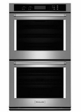 "KODT107ESS KitchenAid 27"" Double Wall Oven with Even-Heat True Convection(Upper Oven) and Glass Touch Display - Stainless Steel"